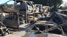 13 year old girl arrested after fire at Kent salvage yard
