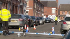 Murder scene at Fosse Road North, Leicester
