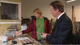David Cameron campaigning in Barry