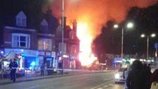 Major search and rescue operation in Leicester after 'huge explosion'
