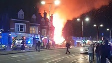 Five people taken to hospital after 'huge explosion' in Leicester