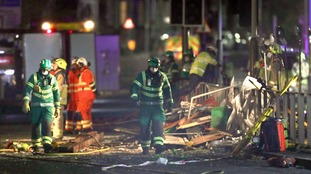emergency services at site of explosion