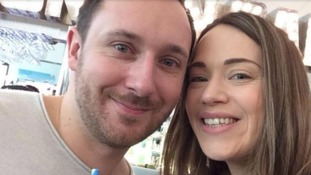 Ellie Udall (right) and her new husband Jonathan both died after the crash.