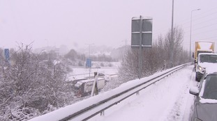 Snow: Severe delays continue on M20 in Kent