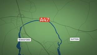 Fatal three-car crash on the A47