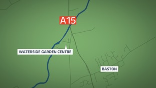 Three people have died in a crash near Baston
