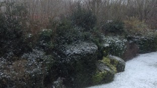 There was a light dusting in Coventry. Thanks to Chris Hitchcock for sending this in.