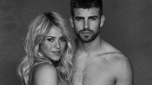 Shakira with her partner, FC Barcelona star Gerard Piqué