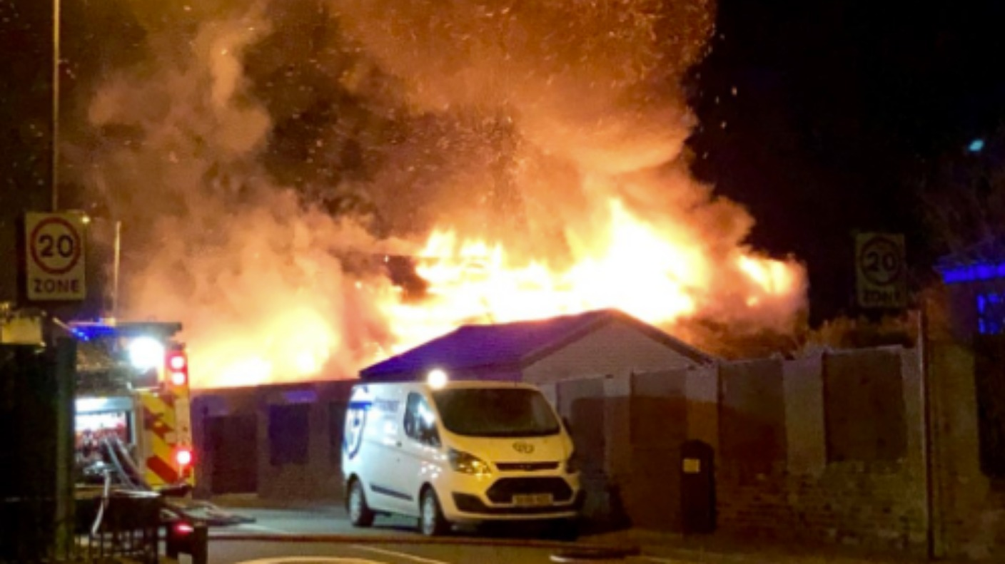crews tackle fire at church building in st helens