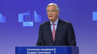 Michel Barnier said that it was waiting for UK proposals on Ireland.