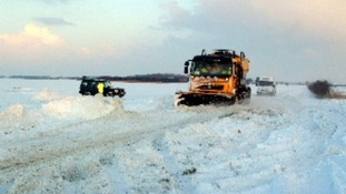 Gritter battles to keep roads open