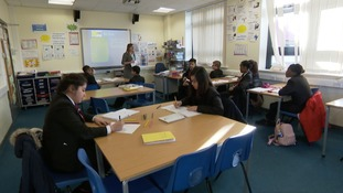 An 'EAL' class - where students learn the basics of English