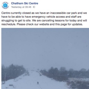 Chatham Ski Centre, Facebook
