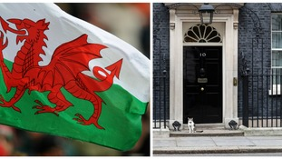 Welsh flag/ 10 downing street