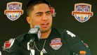 Notre Dame Fighting Irish linebacker Manti Te'o on 5th January