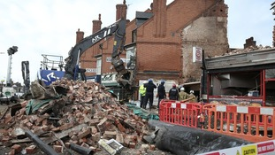 The scene in Hinckley Road