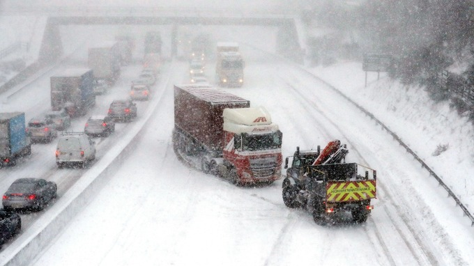 Driving on the M80 in Glasgow was treacherous.