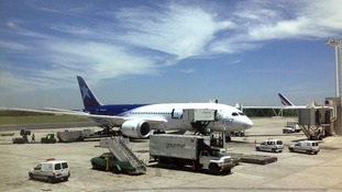 Boeing 787 plane