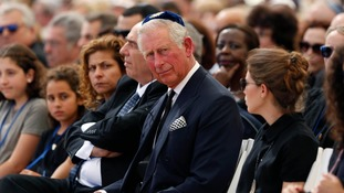 A rare visit: Prince Charles in Israel for the funeral of former President Shimon Peres.