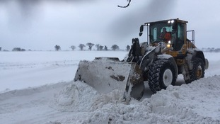 Clearing the snow in Cantley