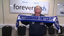 Steve Evans says he's always wanted to manage Peterborough United.