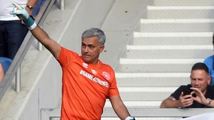 Manchester United manager Jose Mourinho took part in the match.
