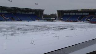 Shrewsbury Town's pitch is frozen