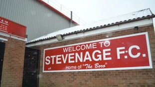 A pitch inspection will take place at Stevenage at lunchtime