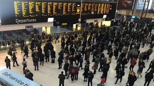Waterloo Station trains to stop at 8pm due to snow