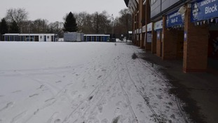 Portman Road is one of the places affected due to the bad weather
