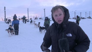 ITV News Dan Correspondent Dan Rivers in Svalbard.