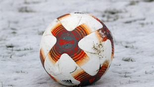 Football in the snow