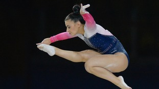 Claudia Fragapane competing in the World Championships in October