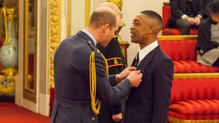 Grime legend Wiley collects MBE from Prince William
