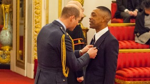 Prince William handed Wiley his MBE