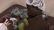 Mother and newborn child in Ghana