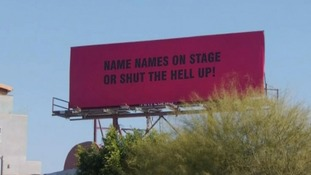 Billboards in LA urge stars to 'name names' at the Oscars