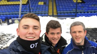 Fans like Oliver Tanner turned up to help get the game on