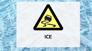 Warning for ice until 11am Sunday