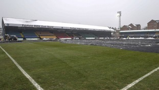 The pitch looking green and ready for action