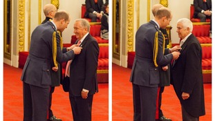Two islanders awarded honours by Duke of Cambridge
