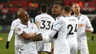 Swansea thrash West Ham to move out of the Premier League drop zone