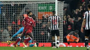 Liverpool see off stubborn Newcastle at Anfield thanks to goals from Salah and Mane