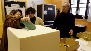Preliminary election results show Italy heading for hung parliament
