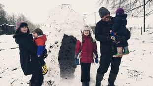 A family igloo in Cranworth