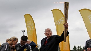 Bannister olympic torch