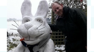 Roger, with rabbit