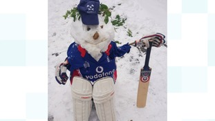 A snowy tribute to England's latest win
