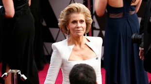 Jane Fonda was among those to show her support for 'Time's Up'.