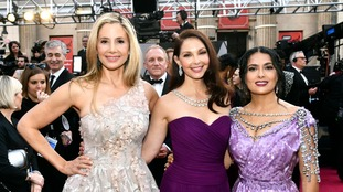 Mira Sorvino (l) and Ashley Judd (c) have spoken out against Weinstein.